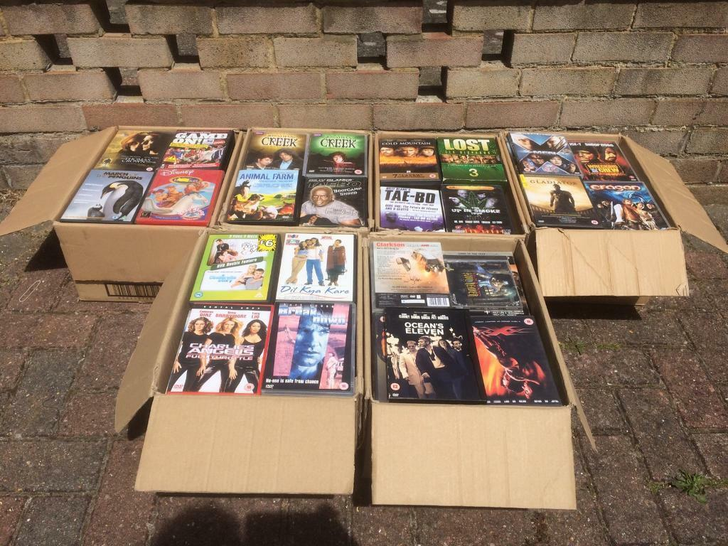 Joblot car boot in excess of 300 assorted DVDs