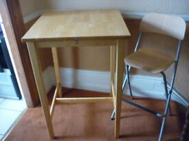 ikea high breakfast table with 4 chairs bjorkudden no.19082