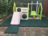 Outdoor Swing & Slide Play Gym