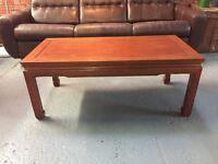 A beautfiul 20th century Chinese hardwood coffee table