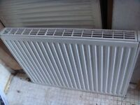 Central heating double plate radiator 90cm x 60cm (by 10cm deep) including the thermostatic valve
