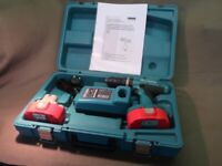 MAKITA 18V COMBIE CORDLESS DRILL SET IN SUPERB CONDITION