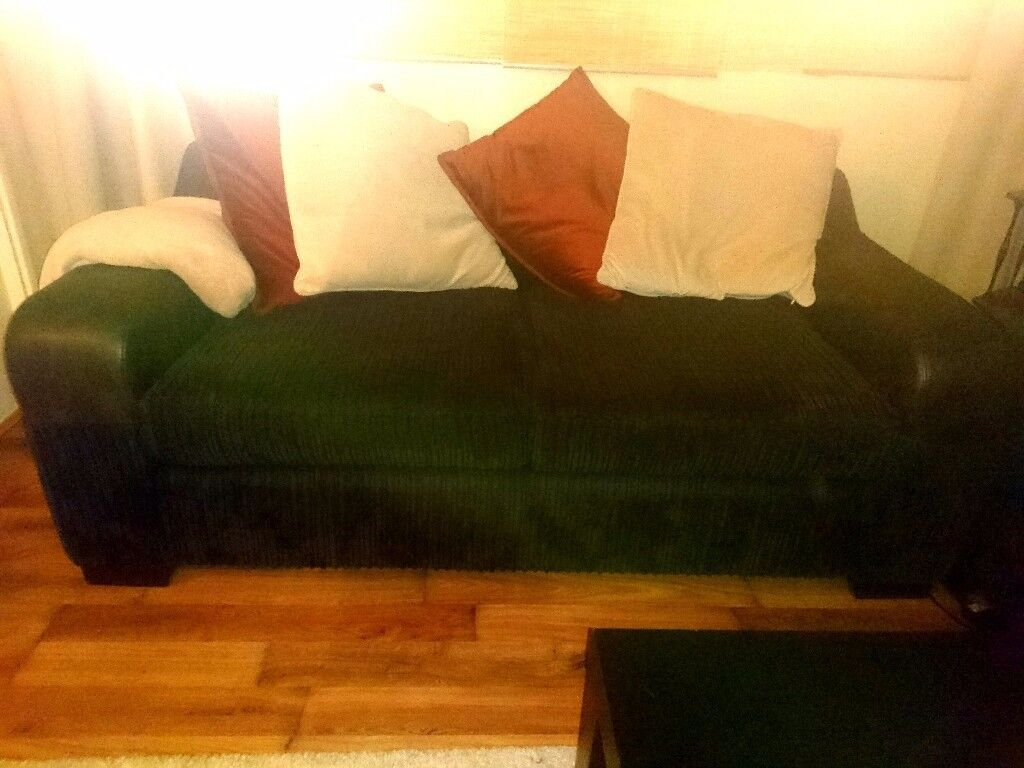 DFS black fabric sofa for sale - good as new £80