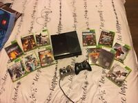 Xbox 360 320gb, 2 controllers plus 15 games including destiny and injustice