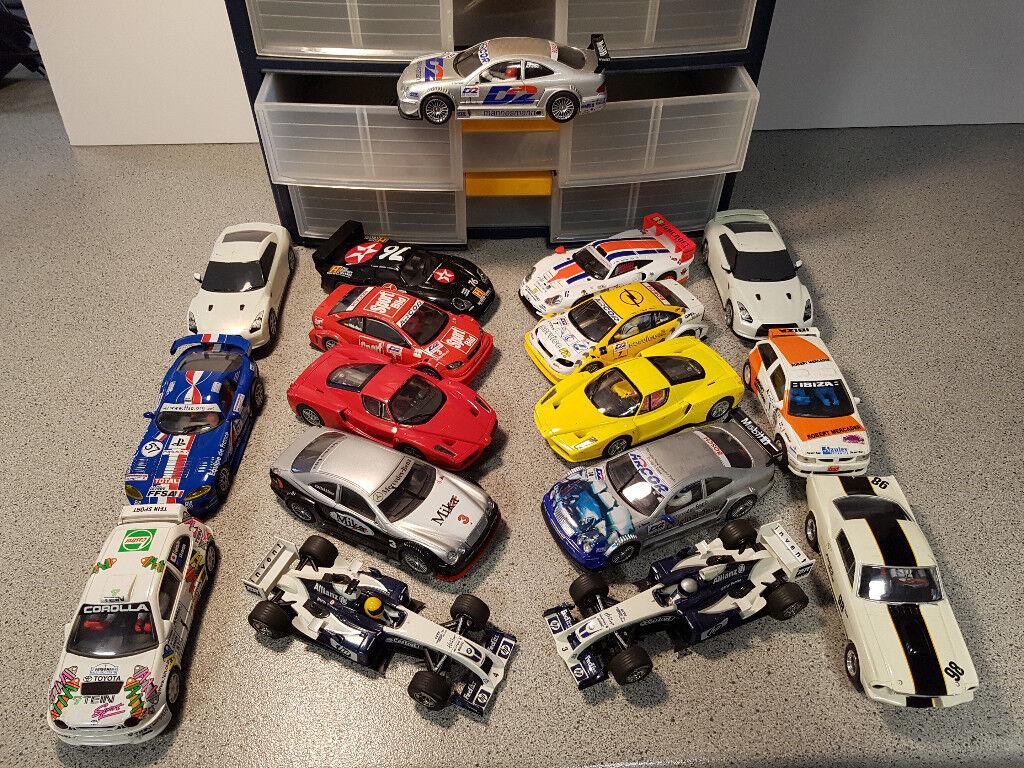 Price Drop !! 45m Carrera Evolution slot car track - Scalextric - Ninco - 17 cars