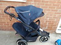 Phil and teds double pushchair navigator v2 autostop