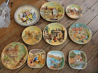 Collectable old 3 D wall plques 10 pieces