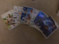 wii console, games and wii fit board