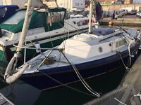 Westerley Jouster yacht,21' GRP, moored in Shoreham Harbour,needs lots TLC