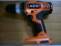 AEG Hammer Drill 18v with charger. Brand New. Note; No battery or original box. £85.00.