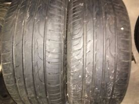 205 50 16 - x 2 Tyres with approx 6 mm tread