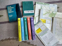 RARE 7 Lake District Climbing Guides inc vintage & all four 1:25k Ord Survey Maps FAB CONDITION