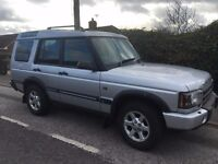 landrover discovery td5,auto, 03 plate, 119,000 miles.