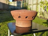 "Chimney cowl Clay Pepperpot 7""spigot for Gas or unused chimneys"