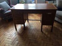 Old wooden teachers desk