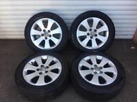"17"" GENUINE VAUXHALL GM INSIGNIA ALLOY WHEELS TYRES 5x120"
