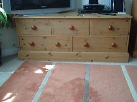 Pine Chest of Drawers, Drawer Units, Oak Gramophone Box