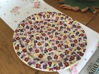 Emma Bridgewater cake plate, Tiny Wallflower pattern