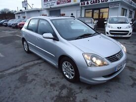 2005 Honda Civic 1.6 i-VTEC Executive Hatchback Full Service 5drGREAT CONDITION, LOW MILEAGE 55008 K