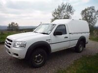 Ford Ranger Regular Cab Pick-up 4x4 2.5 TDCI with Truckman Canopy. NO VAT to pay