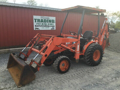 2001 Kubota B21 4x4 Hydro Compact Tractor Loader Backhoe