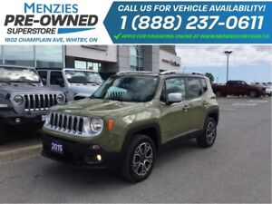 2015 Jeep Renegade Limited 4x4, Bluetooth, Leather, Clean Carpro