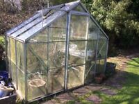 Aluminium greenhouse 8x6ft FREE if you dismantle it! Waterbutt and base available.