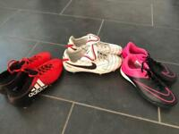 Various Football Boots sizes 4-6