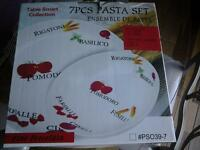 """NEW"" 7 PIECE PASTA SET"