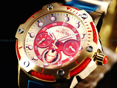 NEW Invicta Marvel Women's Ironman LE Bolt VH63 Multifunction 18K Gold IP Watch
