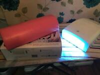 UV nail lamp with arm rest
