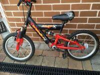 """Kids Bike Raleigh 16"""" Wheels Full Suspension"""