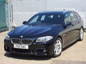 2011 (11 reg), BMW 5 Series 2.0 520d M Sport Touring 5dr, Wide Screen SAT NAV