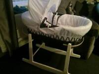 Baby's Moses basket and hammock