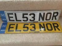 Personal car registration plate EL53 NOR