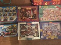 Christmas puzzles for sale & thomas £50 or make me an offer