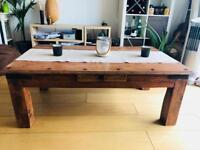 Solid wood rustic / vintage table