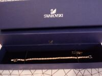 SWAROVSKI BRACELET YELLOW GOLD. GOLDEN CRYSTALS 5278353 NEW/BOXED