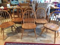 6 Ercol Windsor 1960s Mid-Century Dining Chairs