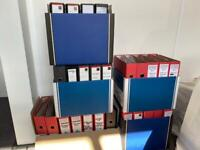 Office filing ring binders x 50
