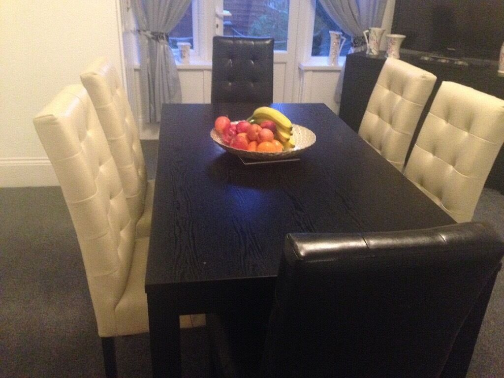 Fenwick Dining Table Six Chairs Matching Sideboard And Mirror
