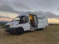 SOLD (STC) Off-Grid Converted Transit Campervan. Shower/Toilet, Hot Water & Solar