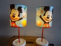 Set of 2 Mickey Mouse Table Lamps