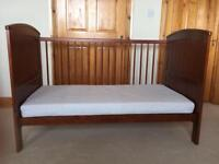 Mamas & Papas Wooden Cot/Toddler Bed