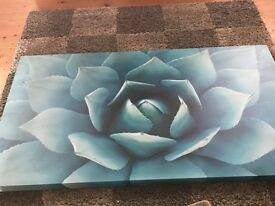 Teal large canvas