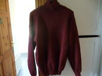 Mens Polo Neck Jumper size L