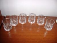 Set of 6 whiskey crystal glasses