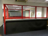 Glass Partition with Aluminium frame (must go by 04/04/2018)