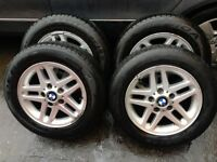 BMW 3 SERIES E46 2000-05 ALLOY WHEELS WITH TYRES 195/65R15