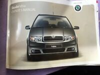 Skoda Fabia Onwers Manual